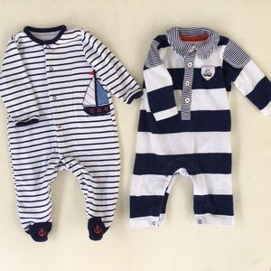 "Ralph Lauren Matching Sets - 6 Piece 3 Month ""Baby Blue"" Collection."